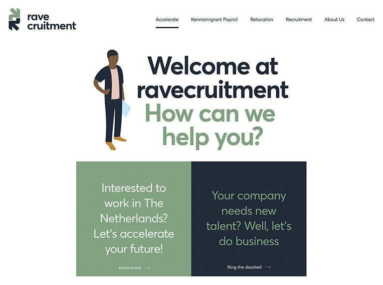 Ravecruitment-website